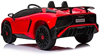 Lamborghini Aventador SV - Licensed Ride On Electric Kids Car, Red