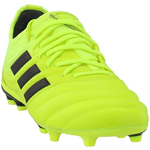 adidas Boys Copa 19.1 Firm Ground (Little Kid/Big Kid) Soccer Casual Cleats, Yellow, 3.5