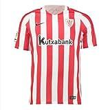 Nike 808519 Camiseta de Fútbol Oficial Athletic Club Bilbao, 1ª Equipación 2016-2017, Niños, Multicolor (University Red/White/Black), L