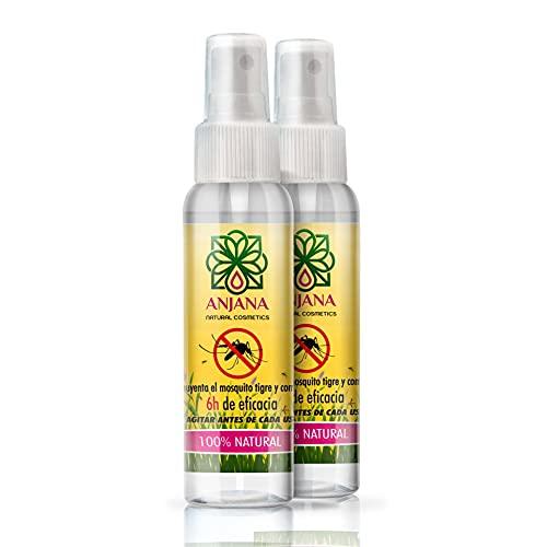 Anjana Pack Ahorro 2 Spray x 100ml Spray 100ml - Ahuyenta el Mosquito Tigre y común 100% Natural   Ideal para Viaje