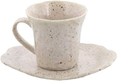 テーブルウェアイースト 和食器 カップ&ソーサー 石目 コーヒーカップセット コーヒーカップ カフェ食器 (梨地)