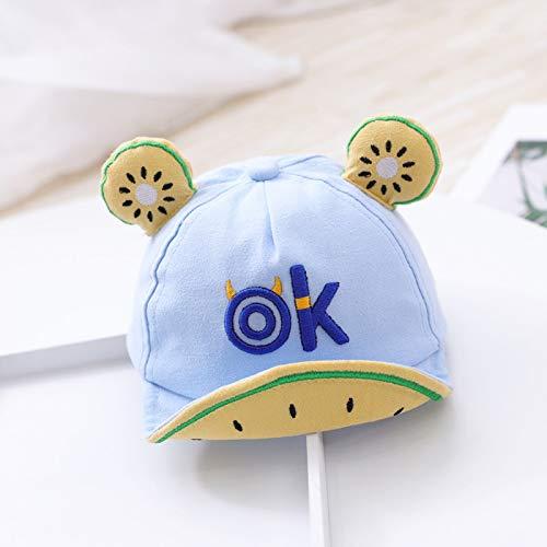 Weichuang - Gorro de algodón suave para bebé, diseño de frutas, para niños, color azul, tamaño: 3 a 12 meses.