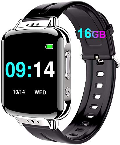 16GB Mini Diktiergerät Armband, Mini Aufnahmegerät mit Stimmenaktivierung - 192 Stunden|One-Touch-Aufnahme|MP3|Passwort|Schrittzähler Abhörgeräte Voice Recorder für Vorlesung, Meeting