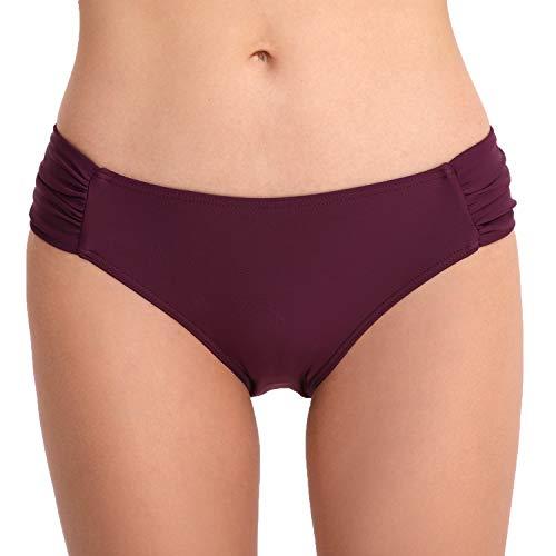 CAMLAKEE Culotes de Bikinis para Mujer - Braguitas de Bikini de Talle Alto con diseño Fruncido en los Laterales