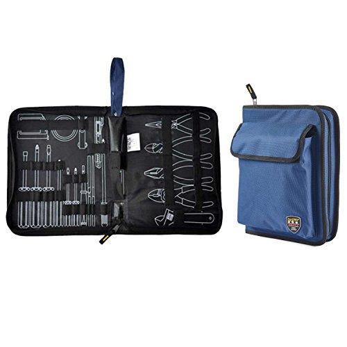 Bolsa de herramientas Babimax con cremallera, rígida, azul
