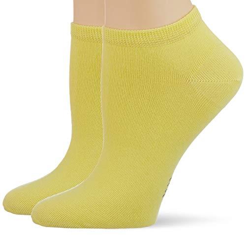 ESPRIT Damen Uni 2-Pack W SN Hausschuh-Socken, Gelb (Vanilla 1360), 39-42 (2er Pack)