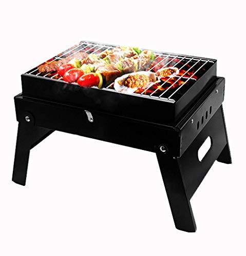 Freistehende Grillgeräte Tragbarer Grill-Holzkohlegrill mit hoher Temperatur, schwarzer Hochtemperaturbeschichtung, Rostschutz und leichte Reinigung für Picknick auf der Terrasse im Freien