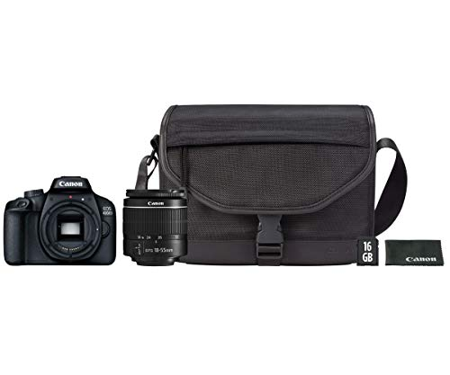 Canon Kit EOS 4000D CÁMARA Reflex 18MP Full HD DIGIC4+ WiFi + Objetivo EF-S...