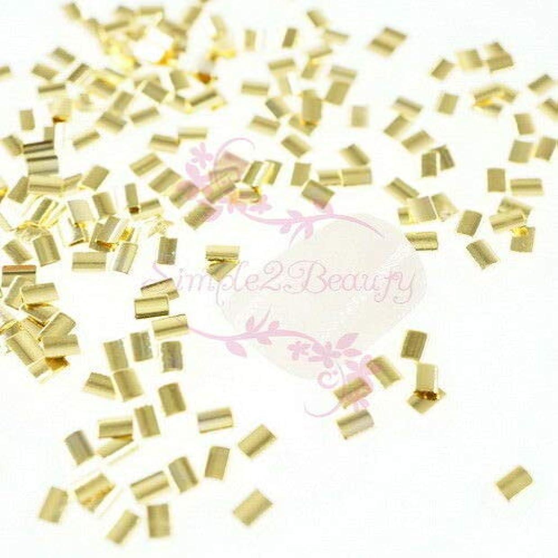 合併結晶相手FidgetGear 500 Rectanlge和風メタリックリベットスタッドネイルアートマニキュアDIYの装飾 ゴールド