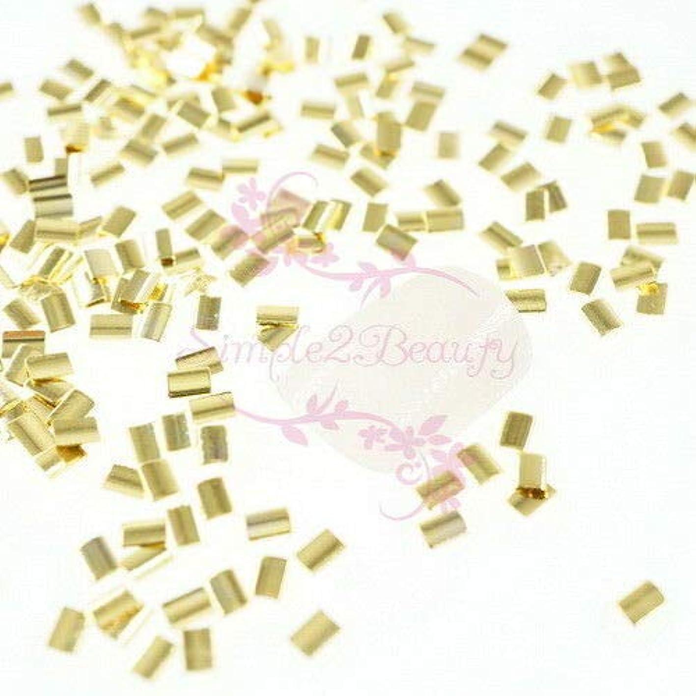 砦海洋性差別FidgetGear 500 Rectanlge和風メタリックリベットスタッドネイルアートマニキュアDIYの装飾 ゴールド