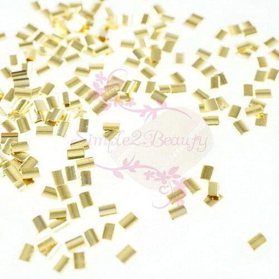 主張キャンバスチームFidgetGear 500 Rectanlge和風メタリックリベットスタッドネイルアートマニキュアDIYの装飾 ゴールド