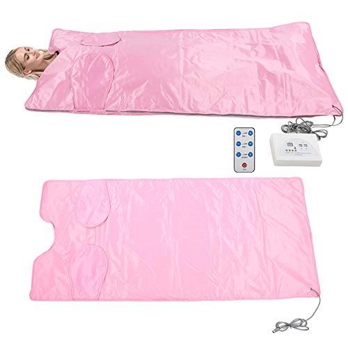 ZJchao Infrarot-Saunadecke Ferninfrarot-Heizdecke Body Shaper Fettverbrennende Körperform Saunadecke für Schönheitssalon, persönliches Spa und Heimgebrauch(Pink 2)