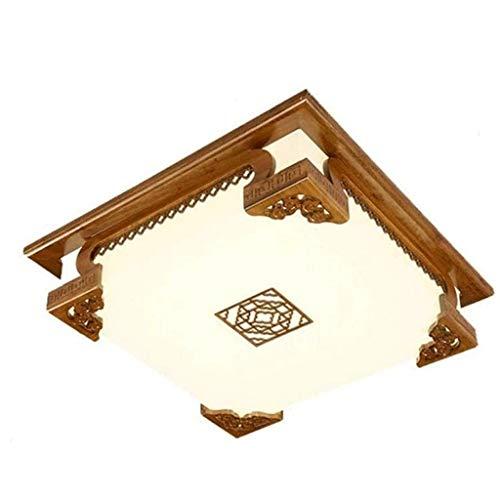 SPNEC Estilo Chino de Techo lámpara de la iluminación de la lámpara de Madera Maciza Cuadrados clásicos Salón Dormitorio