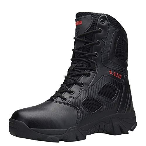 Zapatillas de Hombre de BaZhaHei Botas Militares y cómodas Botas Zapatos de Hombre Antideslizantes Resistentes al Desgaste Que amortiguan el Impacto Botas de montaña Combate de Alpinismo