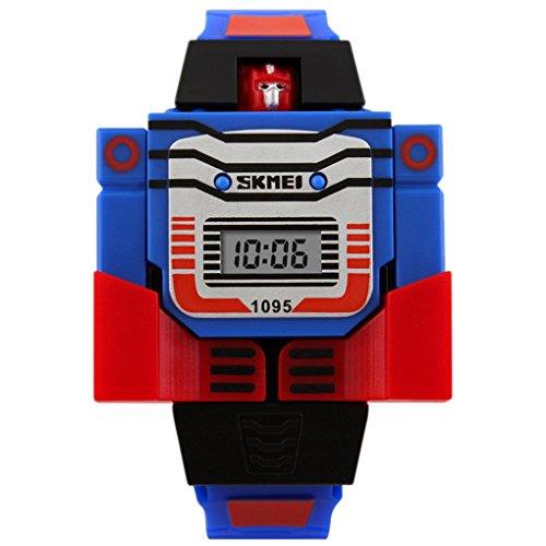SKMEI – Orologio per bambini ragazzo ragazza – Orologio Digital analogico – Braccialetto in silicone – Sport fashion – Monte in forma di Transformers e rimovibile – Colore disponibile