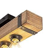 Zoom IMG-2 qazqa plafoniera reena industriale legno