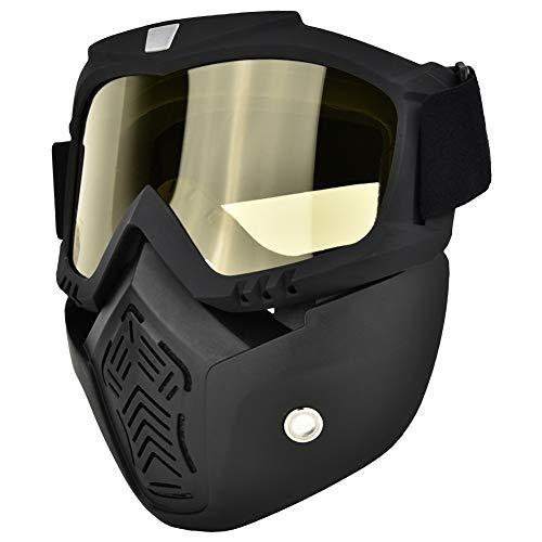 Gafas/Máscaras Mascarilla facial antibalas, antivaho, resistente a los rayos UV Protector de...