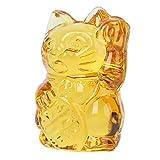 Amosfun Maneki Neko Money Lucky Cat Figurine Crystal Fengshui Chinese Japanese Statue for Attract Wealth Good Luck Home Decoration