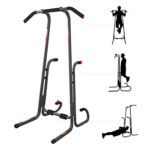 ISE Power Tower Klimmzugstange, Römischer Stuhl, Bauchmuskeln, Rücken und Trizeps, Pull-ups, multifunktionale Station Dips für Training zu Hause, 130 kg, SY-1074