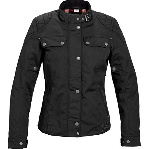 Spirit Motors Motorradjacke mit Protektoren Motorrad Jacke Retro-Style Damen Textil Jacke 1.0 schwarz XL, Chopper/Cruiser, Ganzjährig