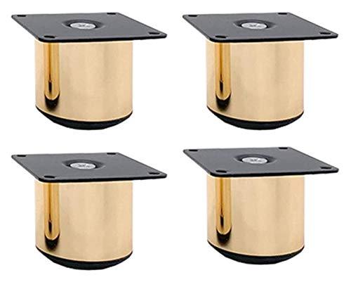 DWhui Patas de Muebles Pies Sofá Piernas Accesorios Muebles 4 PCS Muebles Pies Oro Sofá Patas Pies Acero Inoxidable Ajustable Altura Ajustable (Color : Adjustable, Size : 5CM)