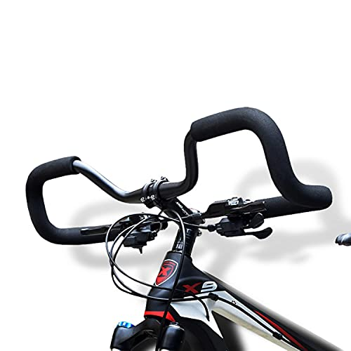 Huntforgold WESTLINK Lenkerbügel Alu 3D Schmetterling Fahrrad Lenker 31,8mm mit Schwamm Schaumrohr für Mountainbike Rennrad