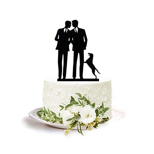 Same Sex Gay Wedding Cake Topper - Anniversary Decoration Cake Topper-Mr and Mr Wedding Cake Topper
