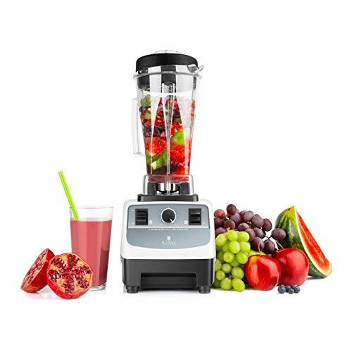 Royal Catering Katana Mixeur Blender Professionnel Cuisine Pour Smoothie RCMB-2LB (32 000 tr/min, 1 500 W, 2 l, Vitesse Réglable En Continu, Pulse, Sans BPA)