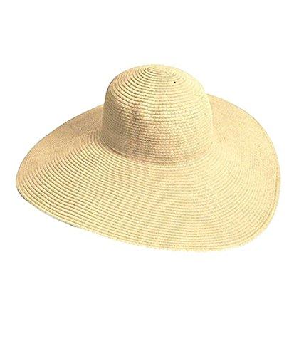 TININNA Donne delle Signore Eleganti Cappello da Sole Estate Cappello a Tesa Larga Cappello della Paglia Berretto di Visiera Beige