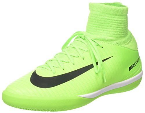Nike Unisex-Kinder Mercurial X Proximo II DF IC Fußballschuhe, Grün (Electric Green/Black-bleu Ghost Green), 38 EU