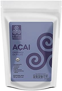 Vivio Foods, Acai Orgánico En Polvo, 150 gramos