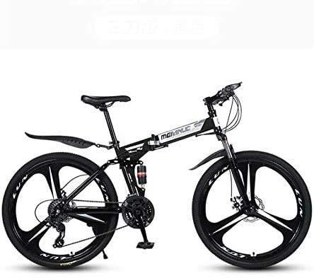 Ligero, Bicicleta de montaña for adultos, Marco de bicicletas plegables de acero...