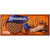 Fontaneda - Digestive Galletas Cubiertas de Chocolate con Leche, 300 g
