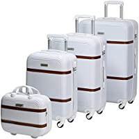 Chalish 234-4 Luggage Trolley Bags for unisex 4pcs, White
