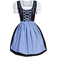 Longra ☂☂ Mira aquí Disfraz Oktoberfest Bavarian Beer Girl Dirndl Tavern Maid Dress Rockabilly Vestidos Swing