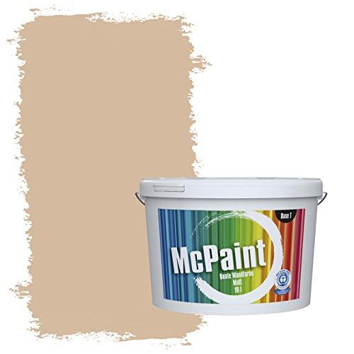 McPaint Bunte Wandfarbe Beige - 10 Liter - Weitere Braune und Dunkle Farbtöne Erhältlich - Weitere Größen Verfügbar