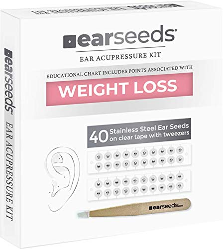 Stainless Steel Ear Seeds Kit with Tweezers-Weight Loss