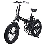 GUNAI 500W Elektrofahrräder 20 Zoll Faltbare Mountain Snow E-Bike Rennrad mit Scheibenbremsen 7...