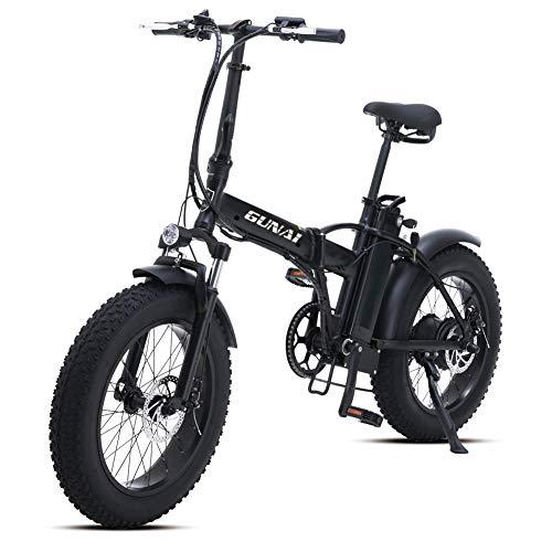 GUNAI Bicicleta Eléctrica 500W 20 Pulgadas 48V 15Ah Neumático Gordo Ciclismo de...