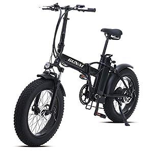GUNAI Electric Bike 500W 20 Zoll faltbares Mountainbike mit 48V 15AH Lithiumbatterie und Scheibenbremse Mountain E-Bike