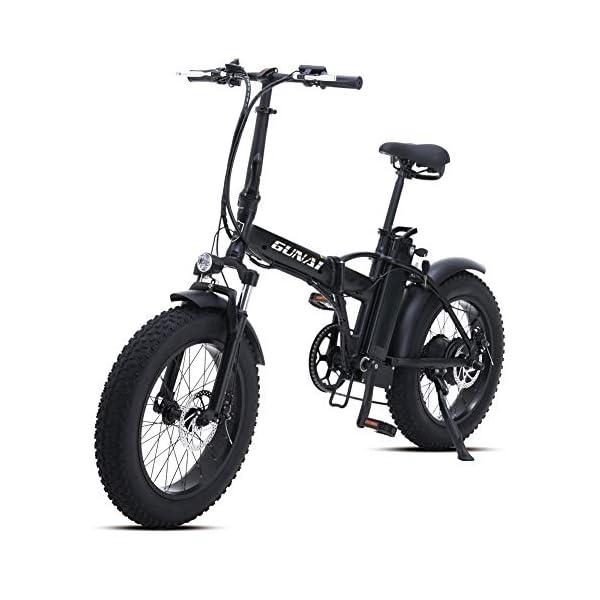 41g4b4gAuHL. SS600  - GUNAI Elektrofahrräder 500W,20 Zoll Faltbare Mountain Snow E-Bike Rennrad mit Scheibenbremsen 7 Geschwindigkeit