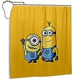 Minions Duschvorhang Standard wasserdichte Badezimmer Vorhang Dekoration Shower Curtain 168x183cm