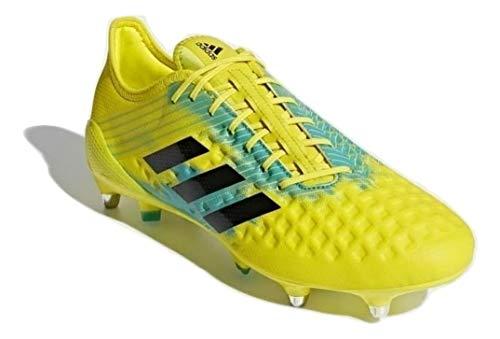 adidas Predator Malice (SG), Scarpe da Rugby Uomo, Giallo (Shoyel/Cblack/Hiraqu Shoyel/Cblack/Hiraqu), 47 1/3 EU