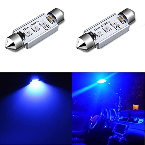 Alla Lighting 211-2 578 CANBUS LED Bulbs, 10000K Blue Super Bright 41mm 42mm...