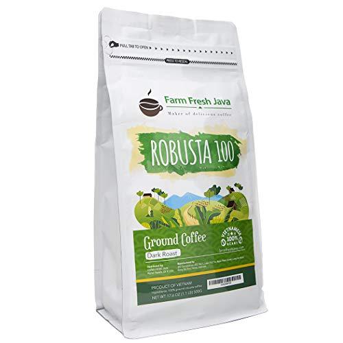(20% OFF Coupon) Robusta 100 Ground Coffee Dark Roast $11.99