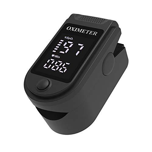 Fingerspitzen-Pulsoximeter Fingerclip-Oximeter Blutsauerstoffsättigungsmonitor OLED-Herzfrequenzmonitor schwarz