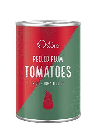 Ortoro - Pomodori datterini pelati, 400 g, confezione da 12