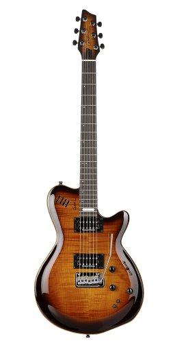 Godin LGXT Solid Body 3-Voice Electric Guitar (Cognac Burst AAA)