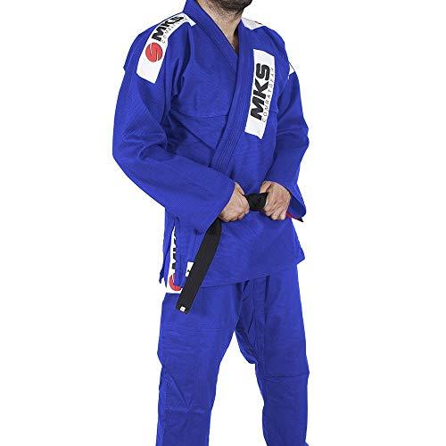 Kimono Jiu Jitsu, Tamanho A4, MKS, Azul