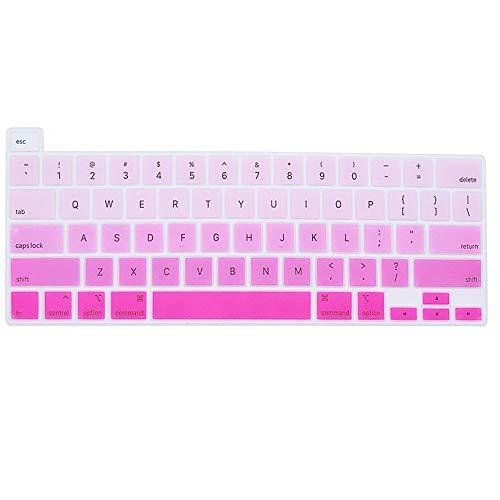 MUBUY Premium Ultra Thin Keyboard Cover Skin for MacBook Pro 16-inch A2141 2020 2019 Release, 2020 New MacBook Pro 13 A2289, High Transparent TPU keyboardKeyboard Protective Skin-Gradual Pink